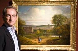 Филип Моулд рядом с картиной Томаса Гейнсборо