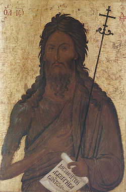 Икона Иоанна Крестителя в технике энкаустика
