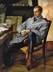Александр Яковлев Портрет Василия Шухаева в его мастерской