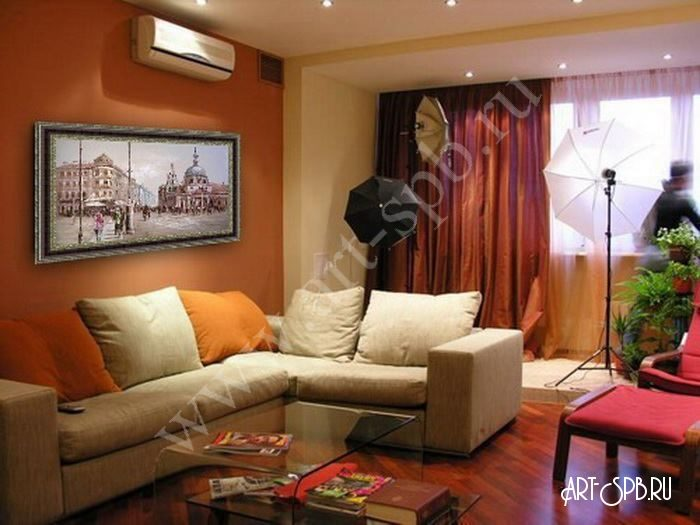 фото картины в гостиную