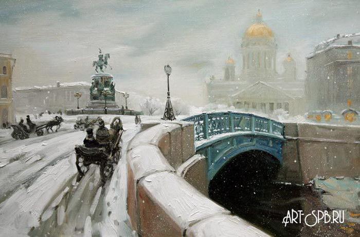 Картинки по запросу фото Исаакиевская площадь зимой