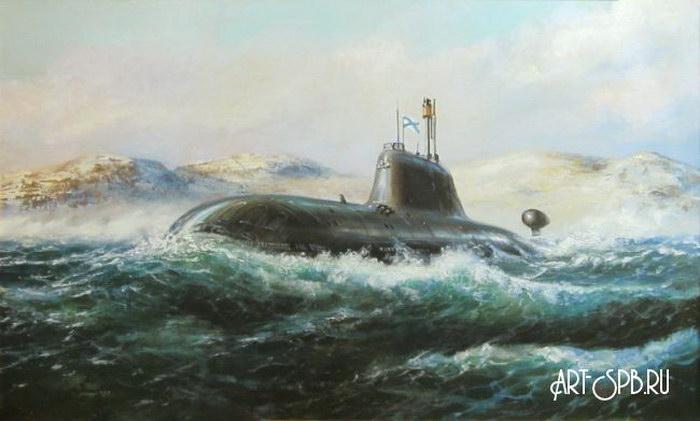 куплю картины с подводными лодками