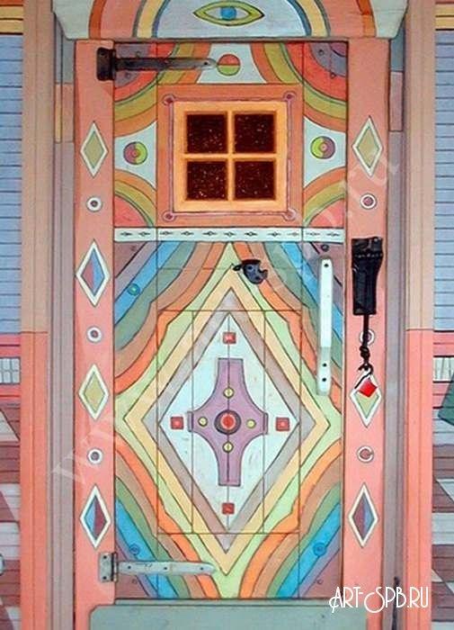 Как расписать дверь