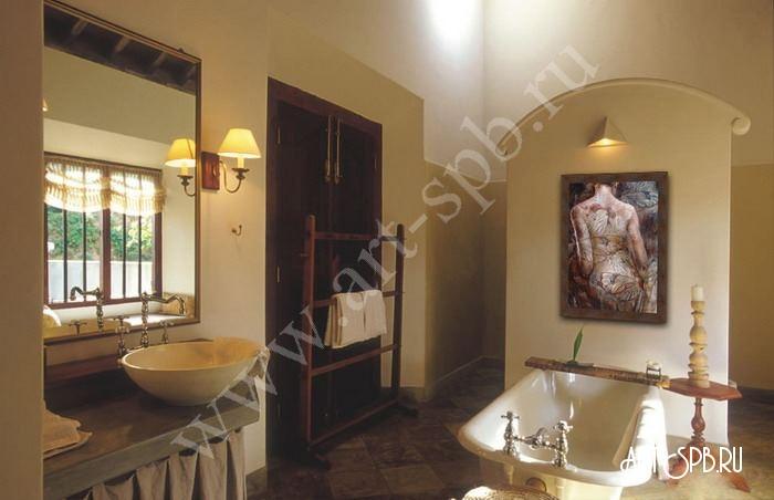 картины для ванной купить живопись графика батик в интерьер
