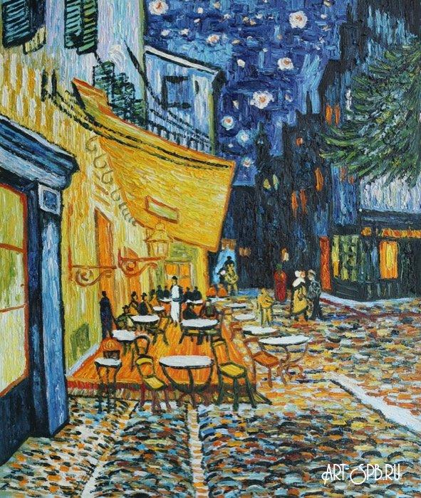 французского картина ван гога ночная терраса кафе порок