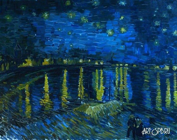 Звездная ночь над Роной 1888 Винсент Ван Гог художник ... Звездная Ночь над Роной Ван Гог