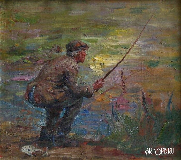 Рыбак на картинах художников